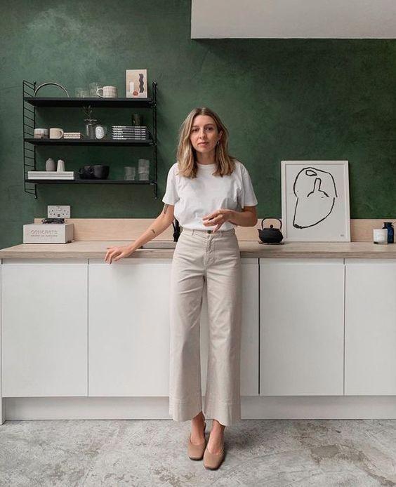 combinacoes minimalistas, calça bege
