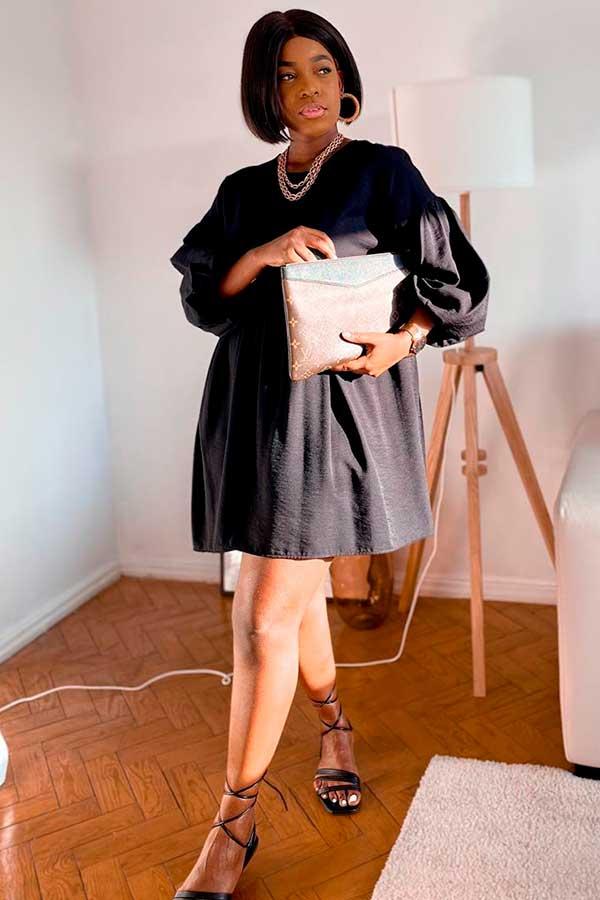 Sonia Belo, vestido preto