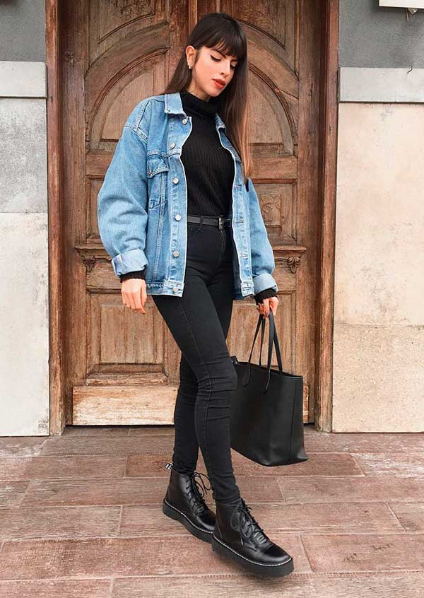 Combos, jeans oversized e combo all balck