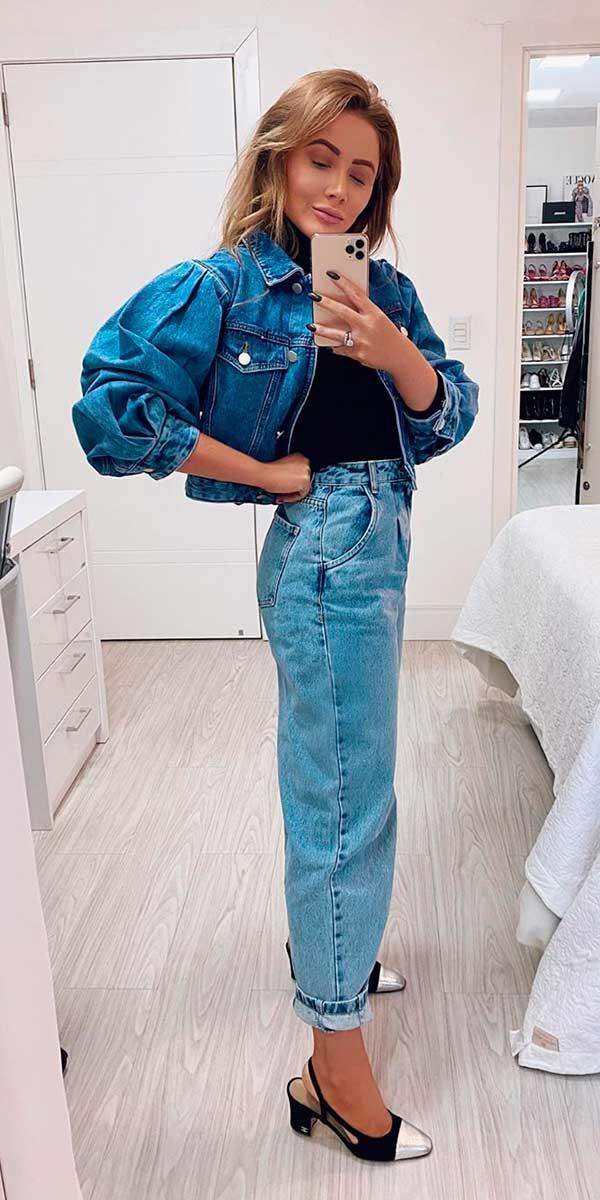 Combos jeans com jeans