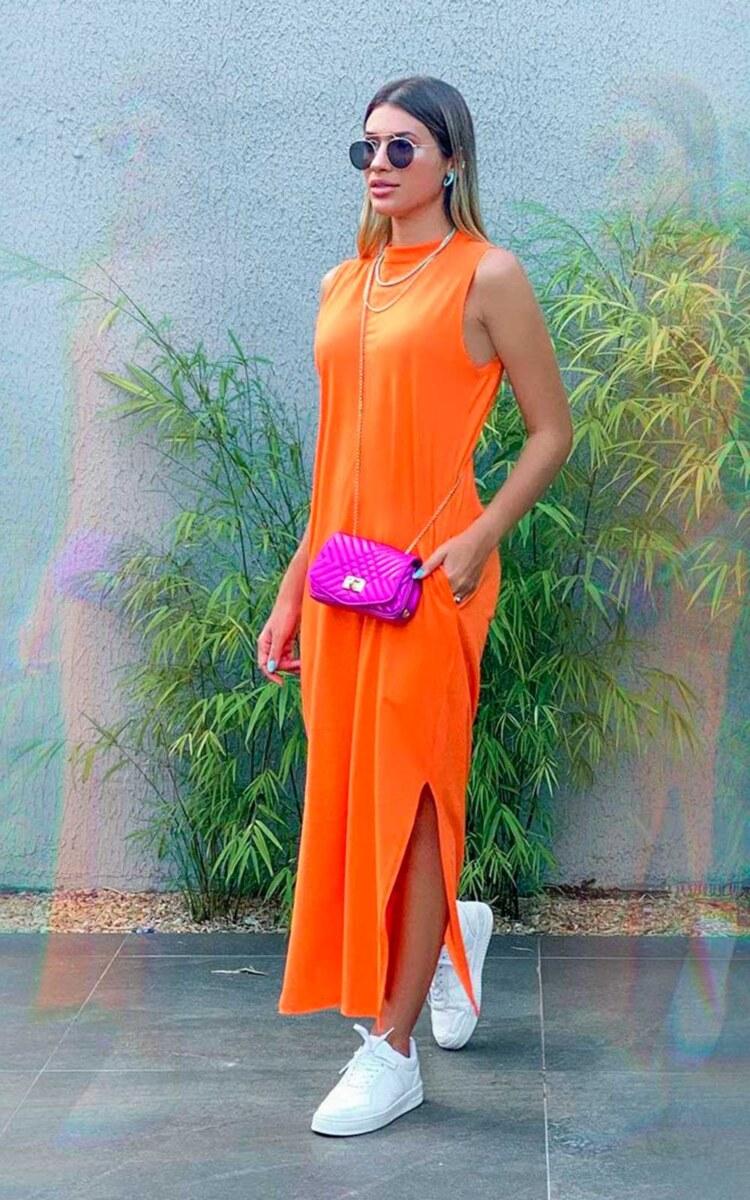 look coloridao com laranja