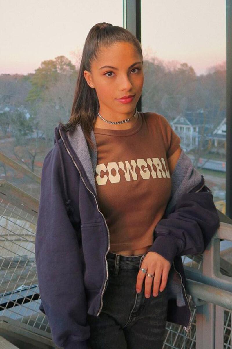 Cowgirl t-shirt, jaqueta azul