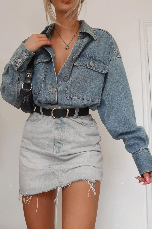 look combinadinho jeans