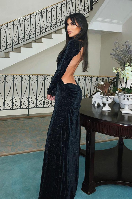 vestido de fesnta preto sensual