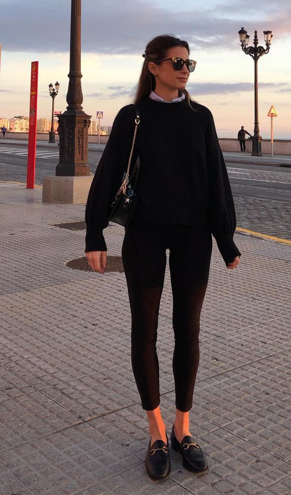 blusa de moletom no look all black