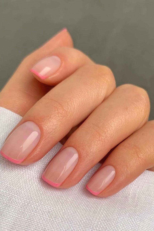 unhas rosas, nail art,