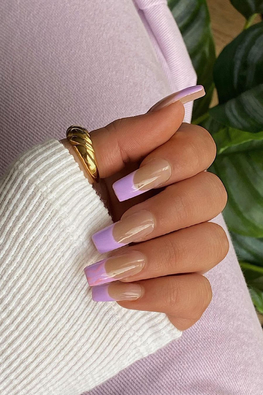 unhas lilás, nail art,