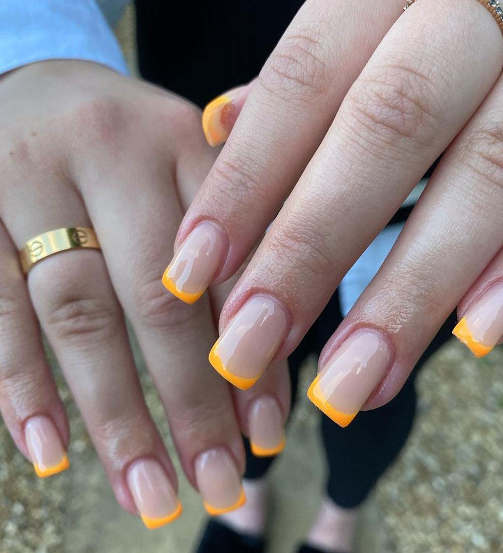 Francesinha colorida laranja